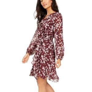 INC | Floral Print Ruffle Dress
